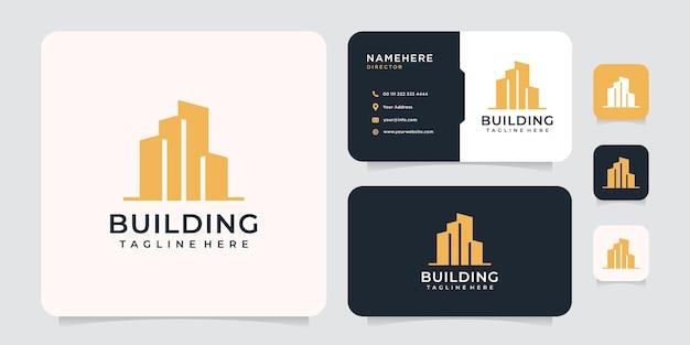 영감을 주는 건물 주거 기업 로고