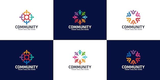 Inspirational collection of logos for groups of people, organizations and communities