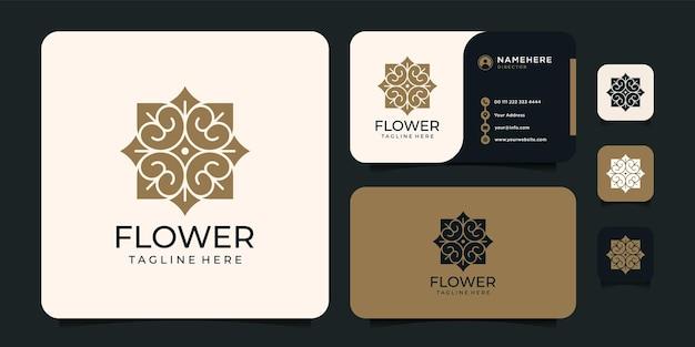 心に響く花のロゴデザイン