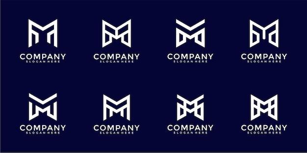 心に強く訴える手紙mモノグラムロゴデザインテンプレート