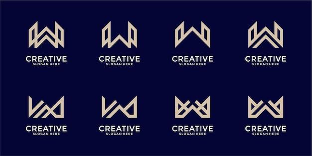 心に強く訴える手紙wモノグラムロゴデザインテンプレート