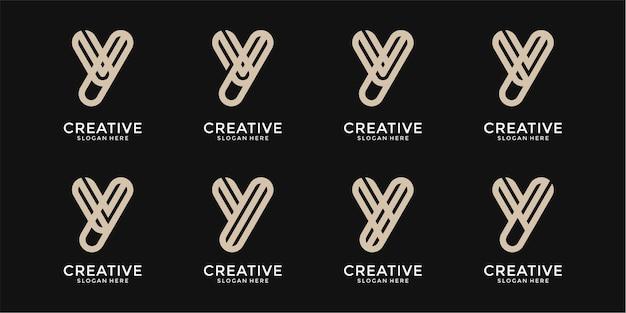 영감 편지 y 모노그램 로고 디자인 서식 파일