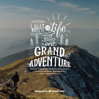 Inspirational lettering background