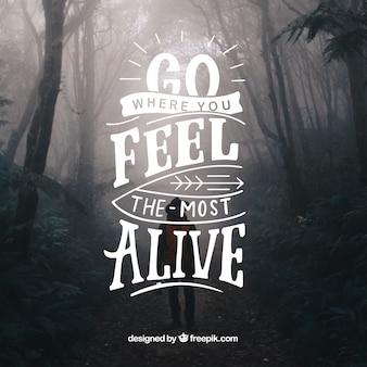 Inspirational lettering background