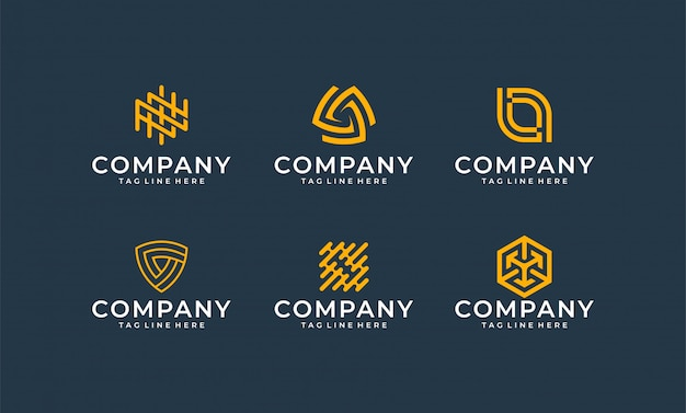 Inspirational modern bundle logo