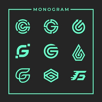 Inspirational monogram letter g design