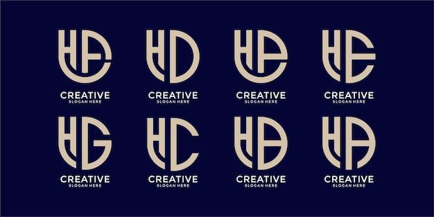 Inspirational monogram logo design template