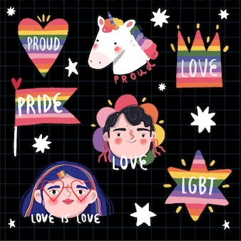 Inspirational pride day labels