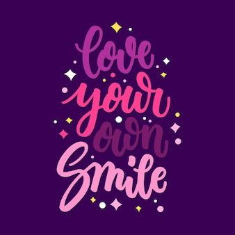 Inspirational self love lettering