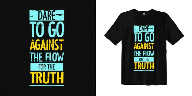 Inspirational words typography t shirt design