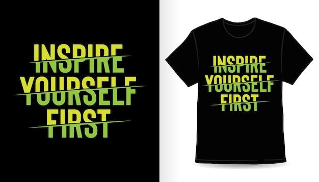 Дизайн футболки со слоганом