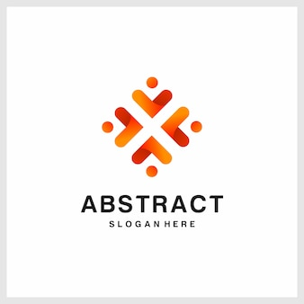 Inspired abstract logo design, orange, modern, premium