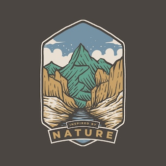 자연 배지 디자인에서 영감을 얻음