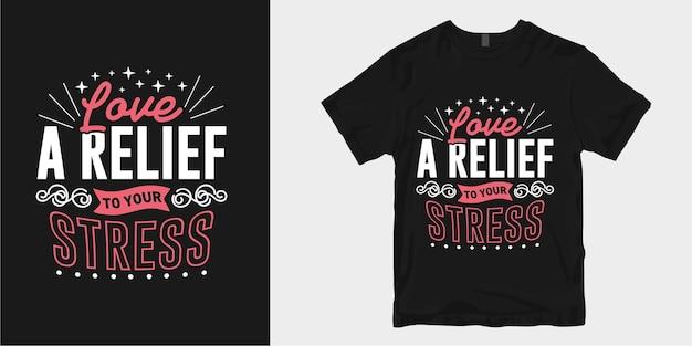 영감을주는 사랑과 낭만적 인 타이포그래피 티셔츠 디자인 슬로건 따옴표