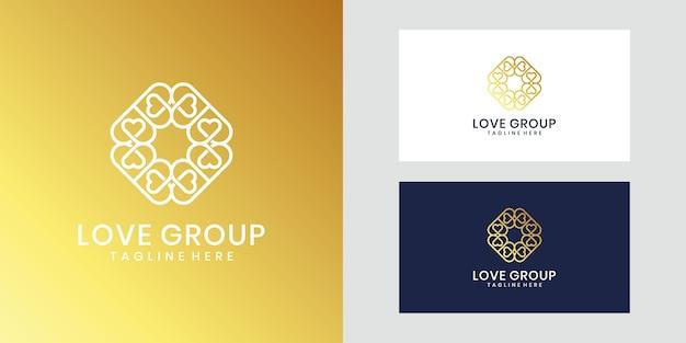刺激的なラグジュアリーラブグループのロゴデザイン