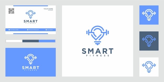 Inspiring luxury smart fitness logo design