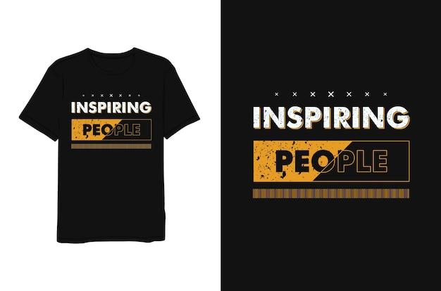 Вдохновляющие люди, надпись желтый минималистский современный простой стиль