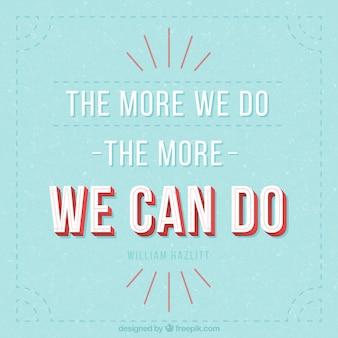 感激の引用は、ヴィンテージスタイルで「我々が行うことができます」