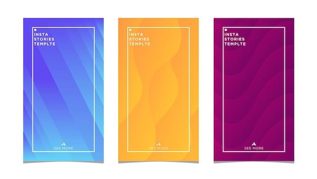 Insta 이야기 다채로운 추상적인 디자인 일러스트 레이 션