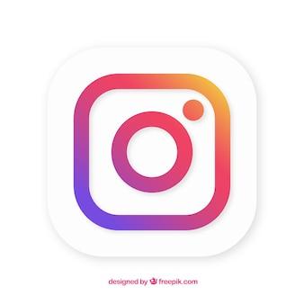 Instagram background in gradient colors