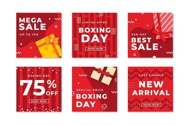 Instagram boxing day sale post set