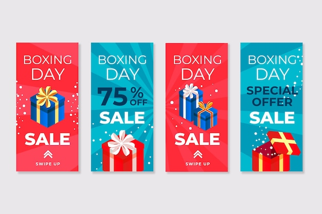 Instagram boxing day sale story set