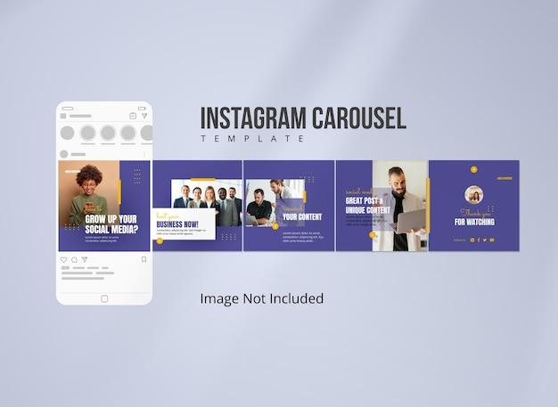 소셜 미디어 전략을 위한 instagram 캐러셀 게시물