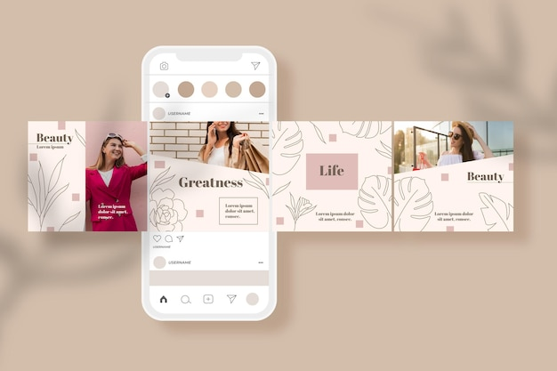 Instagram carousel templates pack