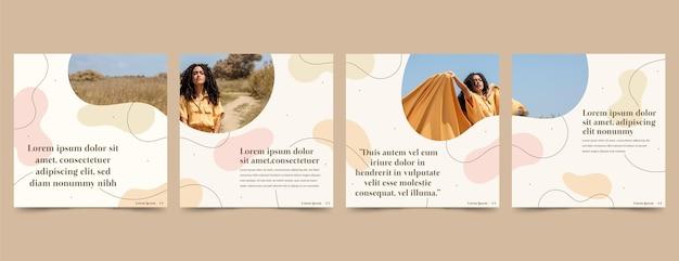 Instagram carousel templates set