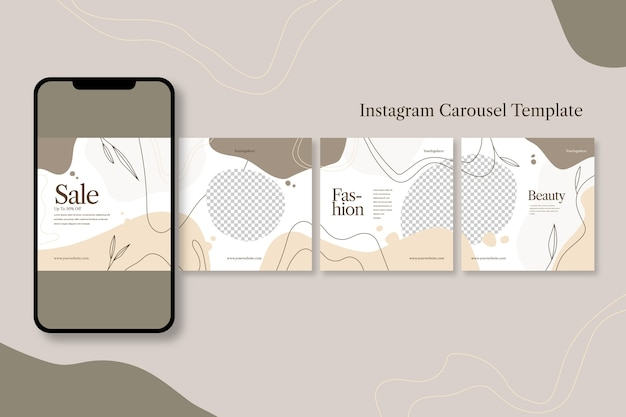 Instagram 캐 러셀 템플릿