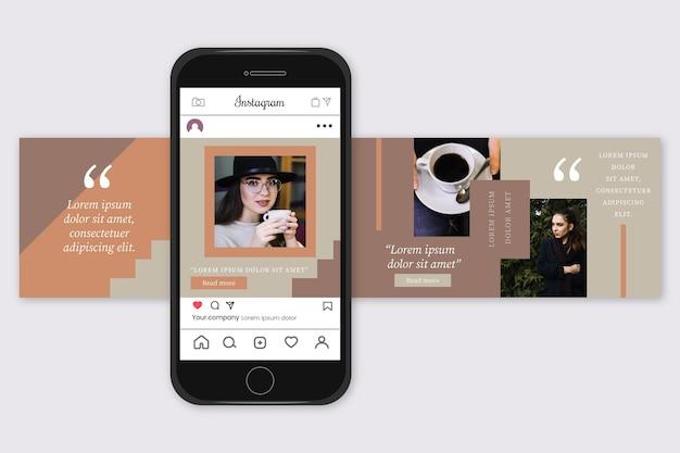 Instagram carousel templates