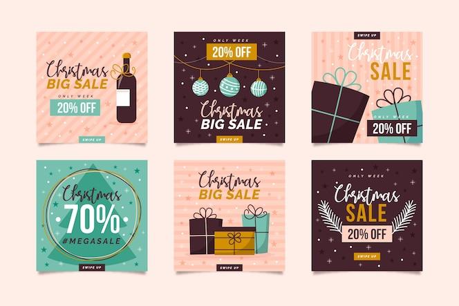 Instagram 크리스마스 판매 포스트 컬렉션