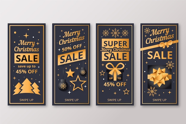 Instagram christmas sale story set