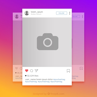 Instagram colorful frame