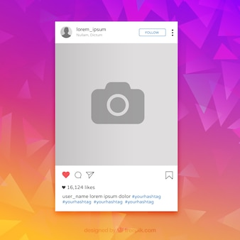 Instagram colorful frame