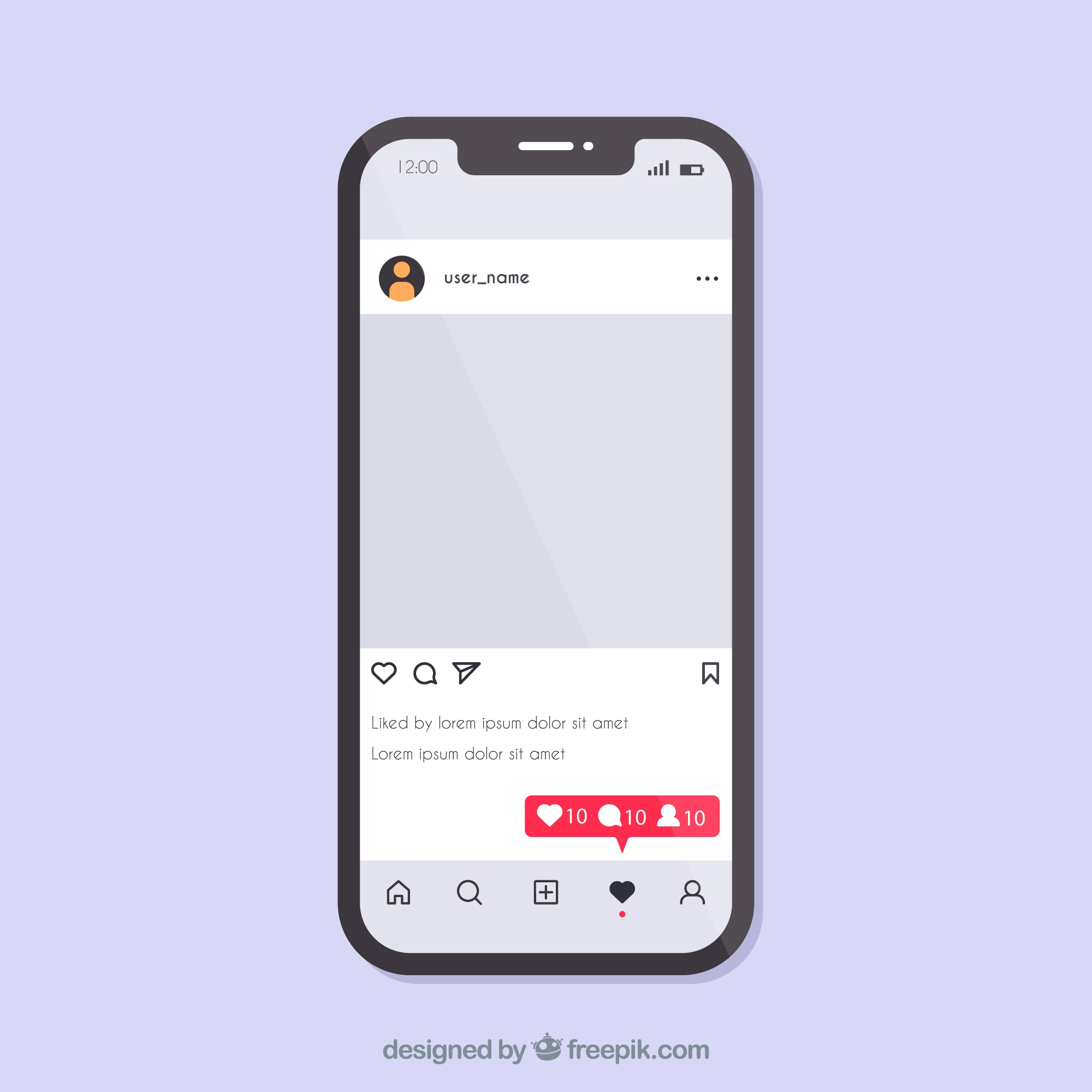 Instagram concept with smartphone