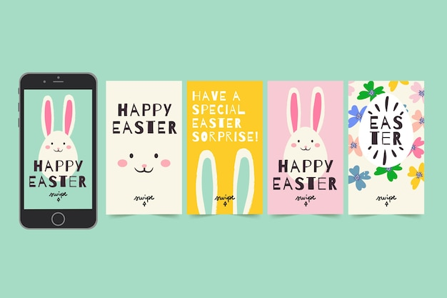 Instagram easter day stories set