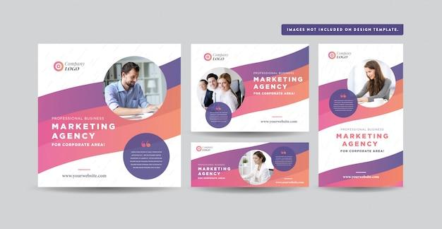 ソーシャルメディアの投稿デザイン ウェブサイトのバナーデザイン  instagram、facebook、twitter、リンクされた広告デザイン