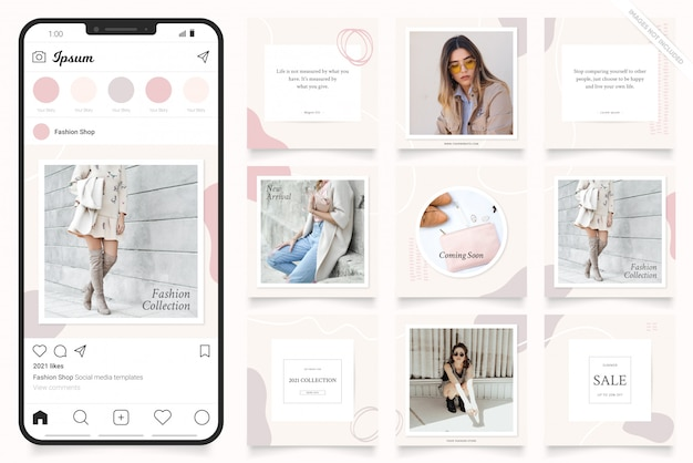 Instagramストーリーとfacebookバナーのソーシャルメディア広告テンプレート
