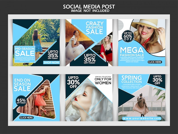Instagram fashion sale post template