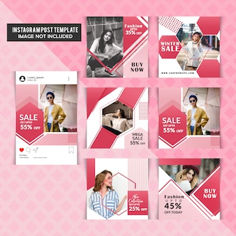 Instagram fashion story template
