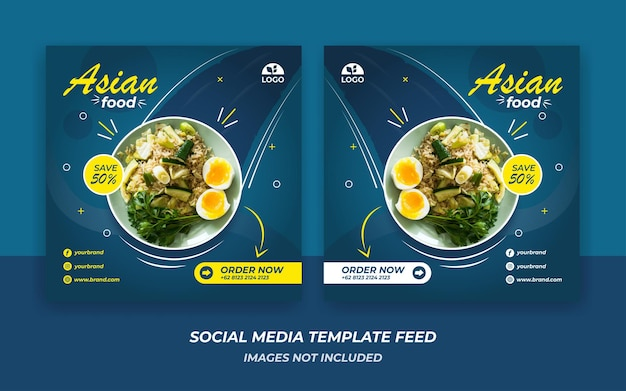 Instagram feed template food style