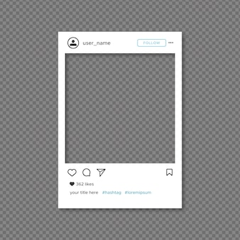 Instagram frame template