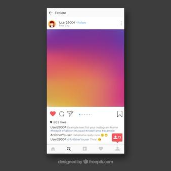 Instagram frame template