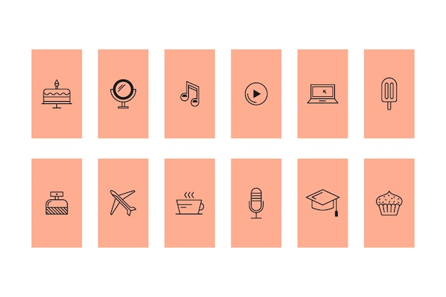 Значки истории в instagram