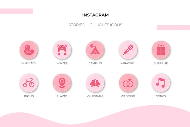 Instagram icon stories highlights