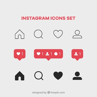 Instagram icons set