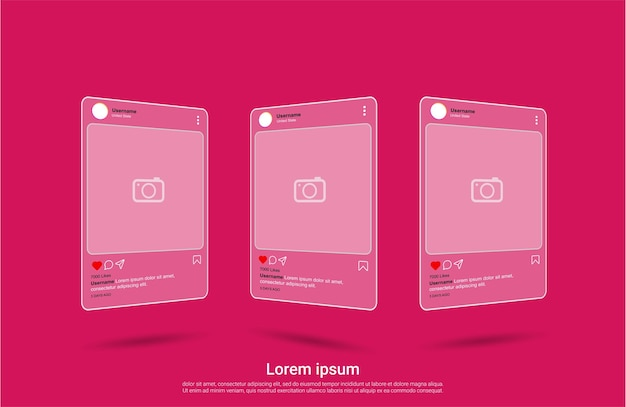 Instagram interface social media template