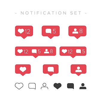 Instagram like notification set