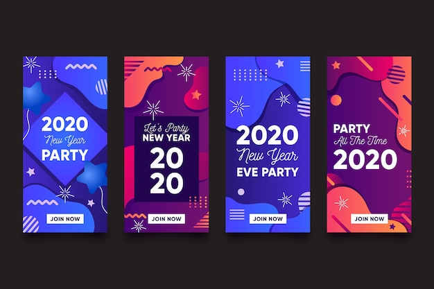 Instagram new year party story collection